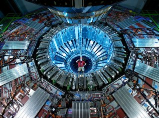 The Large Hadron Collider near Geneva probes the mystery of cosmic origins.