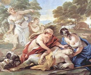 Women bemoaning the slain Adonis